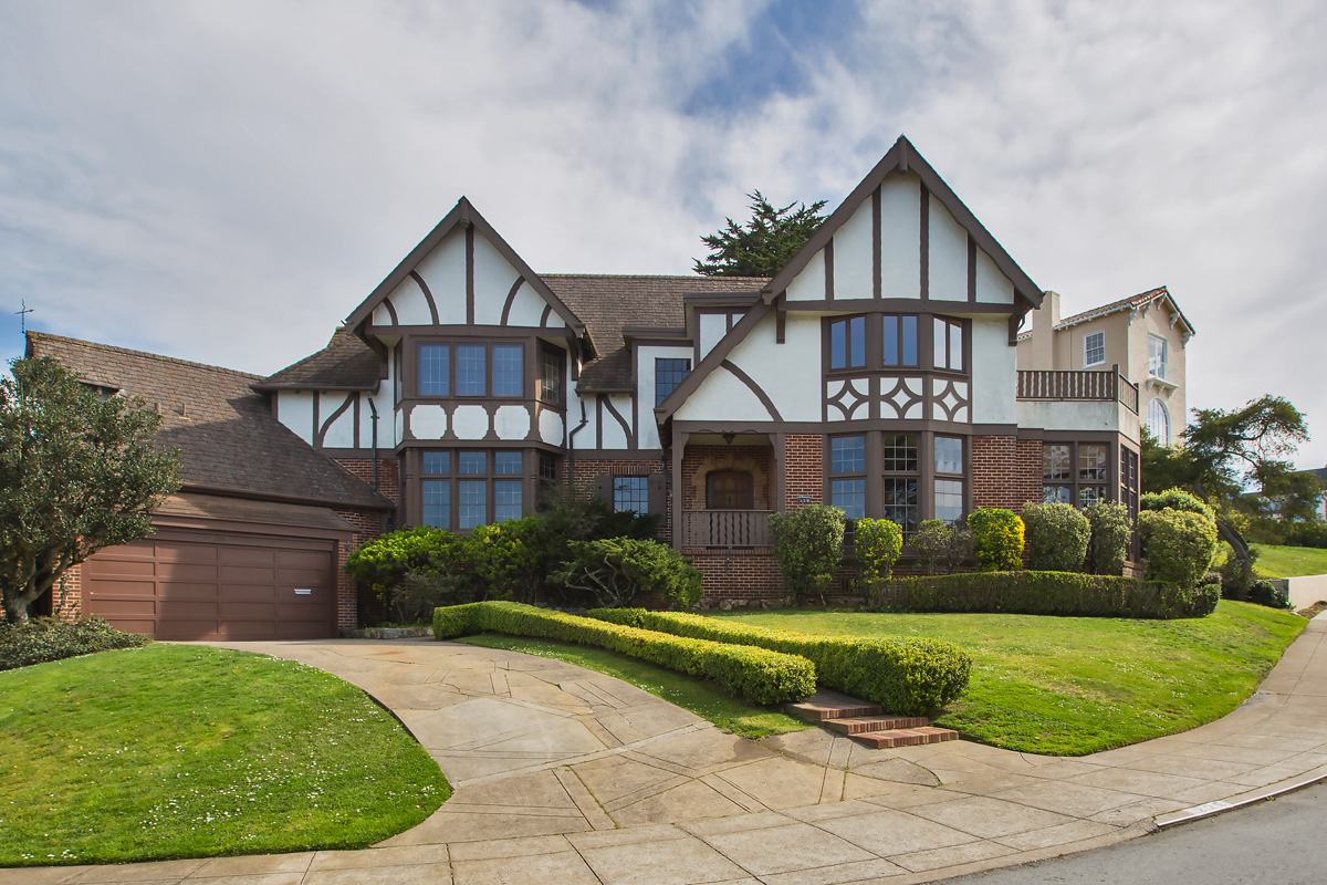MAJESTIC TUDOR HOME ON DOUBLE LOT